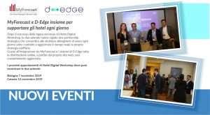 MyForecast e D-Edge insieme per supportare gli hotel